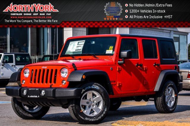 2017 Jeep Wrangler Unlimited New Car Sport 4x4 PwrConven.Pkgs AC BlackHardTop 17Alloys  in Thornhill, Ontario