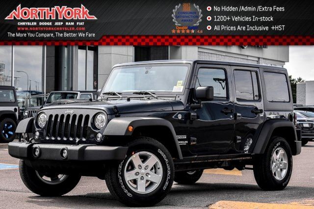 2017 Jeep Wrangler Unlimited New Car Sport 4x4 Lighting,PwrConven.Pkgs AC HardTop 17Alloys  in Thornhill, Ontario