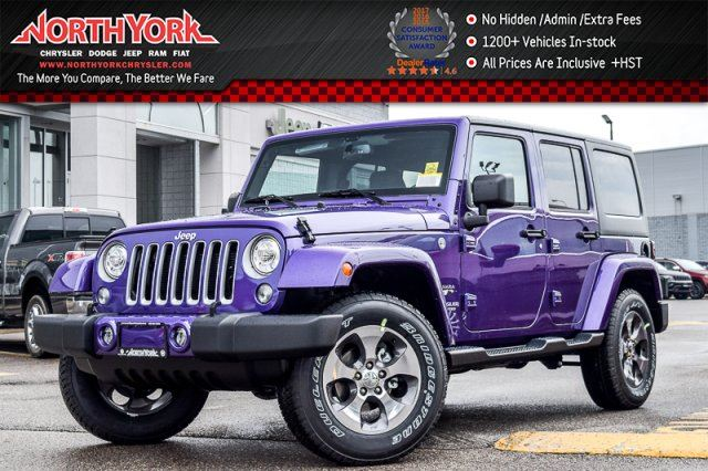 2017 Jeep Wrangler Unlimited New Car Sahara 4x4 Connect.,LED,Dual Top Pkgs Leather 18Alloys in Thornhill, Ontario