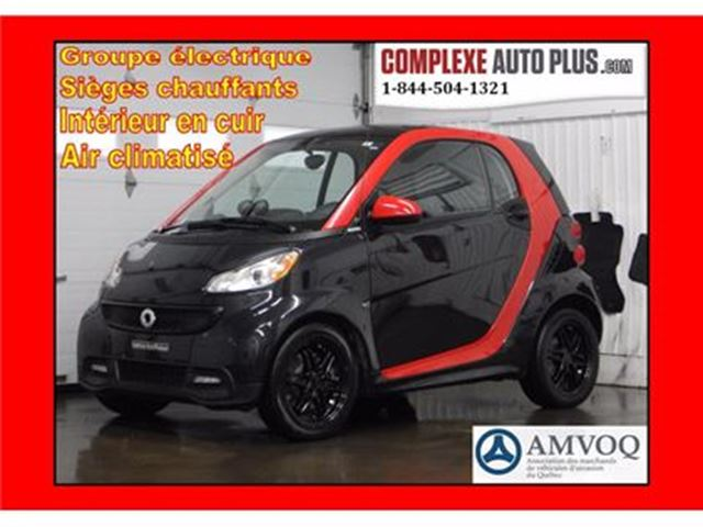2013 Smart Fortwo Sharp Red Edition *Toit pano, Cuir brodé rouge, Ma in Saint-Jerome, Quebec