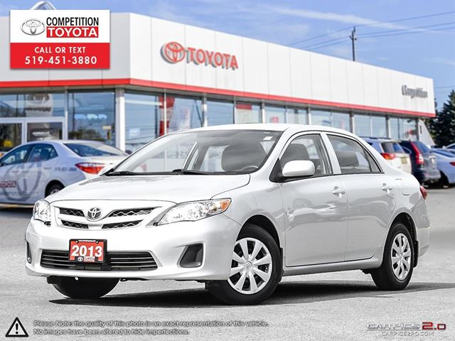 2013 TOYOTA Corolla CE One Owner, No Accidents, Toyota Serviced in London, Ontario