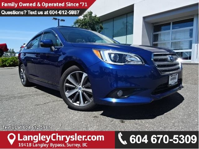 2016 SUBARU LEGACY 2.5i Limited Package W/LEATHER INTERIOR, SUNROOF & BLUETOOTH in Surrey, British Columbia