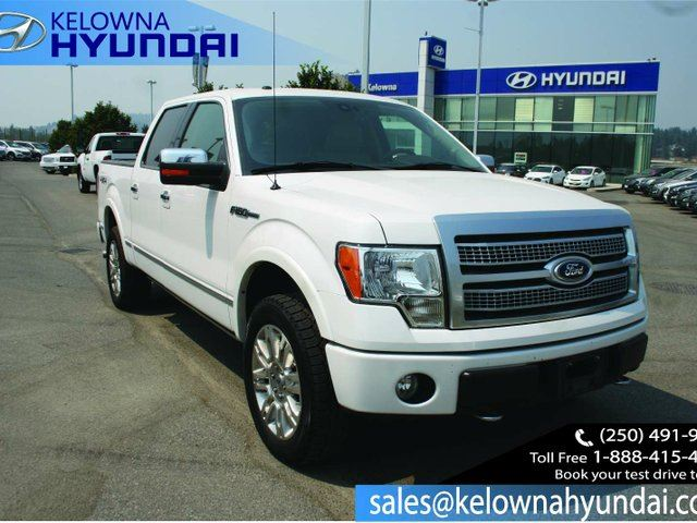2010 FORD F-150 PLATINUM 4x4 SuperCrew Cab 5.5 ft. box 145 in. WB in Kelowna, British Columbia