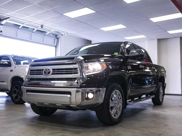 2015 TOYOTA Tundra 1794 PLATINUM, HARD TONNEAU, 3M HOOD, REMOTE STARTER, SIDE STEPS, NAVIGATION, LEATHER, HEATED & COOLED SEATS, SUNROOF, TOUCH SCREEN, BACK UP CAMERA, ALLOY RIMS, BLUETOOTH, 5.7L V8, 4X4, CREWMAX in Edmonton, Alberta