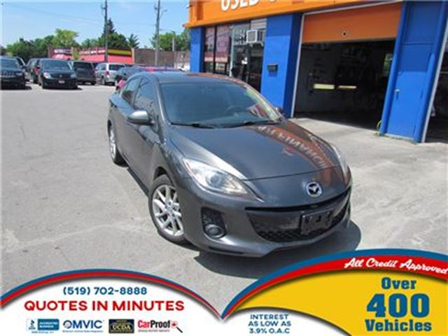 2012 MAZDA MAZDA3 GT   LEATHER   ALLOYS   SUNROOF in London, Ontario