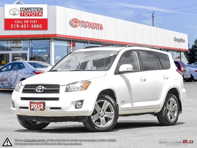 2012 TOYOTA RAV4 Sport One Owner, No Accidents, Toyota Serviced in London, Ontario