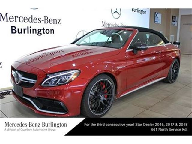 2017 mercedes benz c63 amg cabriolet burlington ontario for Mercedes benz ontario dealers