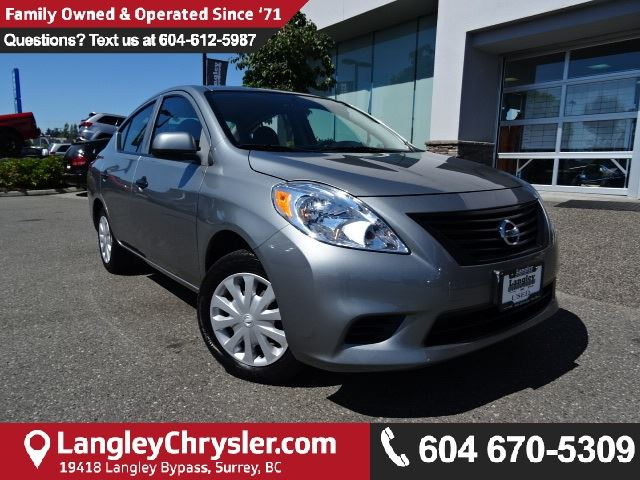 2012 NISSAN VERSA 1.8 SL w/LOW KMS & MANUAL TRANSMISSION in Surrey, British Columbia