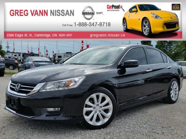 2015 Honda Accord Touring w/all leather,NAV,rear cam,climate control,heated seats,pwr sunroof in Cambridge, Ontario