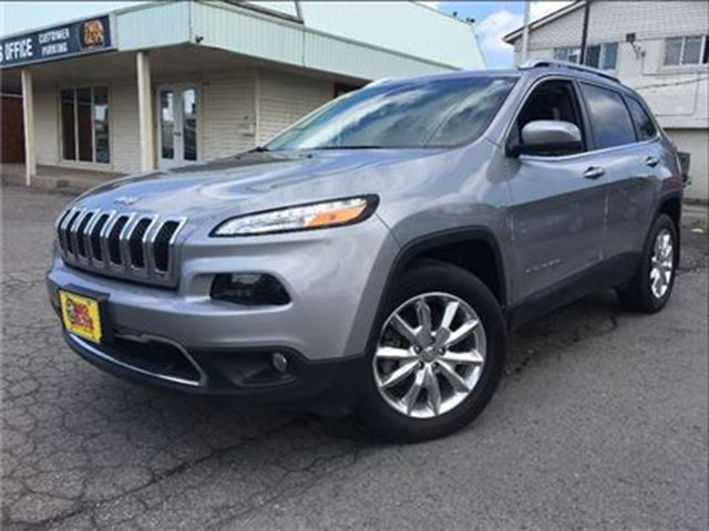 2016 JEEP CHEROKEE Limited 4WD LEATHER NAVIGATION BACK UP CAMERA in St Catharines, Ontario
