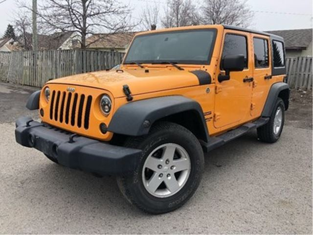 2012 JEEP WRANGLER Unlimited Sport 4WD FUN COLOR!! HEATED MIRRORS in St Catharines, Ontario