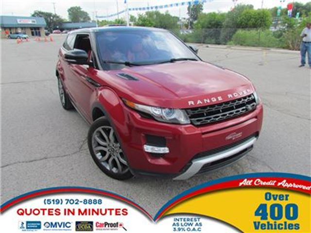 2013 LAND ROVER RANGE ROVER EVOQUE PURE   COUPE   BACKUP CAM   NAV   LEATHER in London, Ontario