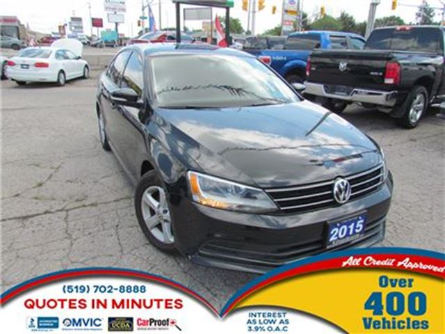 2015 VOLKSWAGEN JETTA COMFORTLINE TSI   BACKUP CAM   BLUETOOTH in London, Ontario