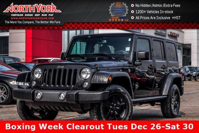 2016 JEEP Wrangler Unlimited Sport 4X4 Manual Bluetooth Sat.Radio PwrWndws 20Alloys in Thornhill, Ontario