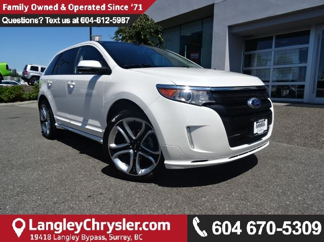 2013 FORD EDGE Sport W/ NAVIGATION, LEATHER INTERIOR & BACKUP CAMERA in Surrey, British Columbia