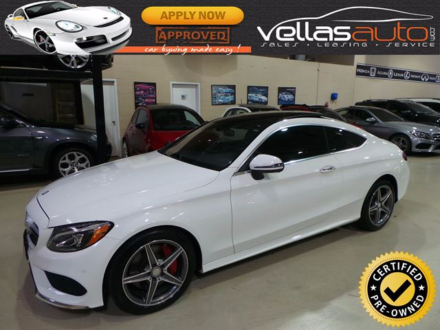 2017 mercedes benz c class c300 coupe 4matic amg sport white vella 39 s auto sales and leasing - Mercedes c class coupe 4matic ...