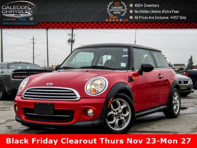 2013 MINI COOPER Panoramic Sunroof Bluetooth Heated Front Seats Keyless Entry 16Alloy Rims in Bolton, Ontario