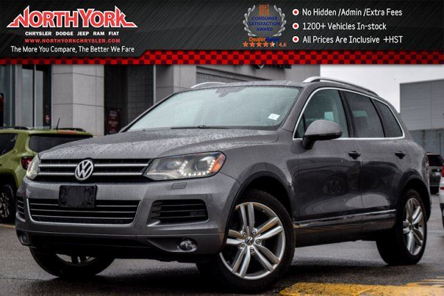 2012 Volkswagen Touareg Comfortline AWD Nav Pano_Sunroof Leather Pkng Sensors 19Alloys in Thornhill, Ontario