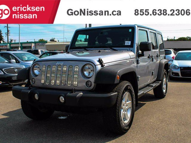 2014 JEEP Wrangler Unlimited Sport, 4WD, Power Windows, Dual Tops, Blue Tooth in Edmonton, Alberta