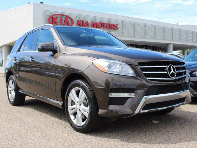 2013 MERCEDES-BENZ M-CLASS DIESEL, DUAL SUNROOF, NAVI, HEATED WHEEL, HEATED FRONT/REAR SEATS, BUTTON START, SIRIUS in Edmonton, Alberta