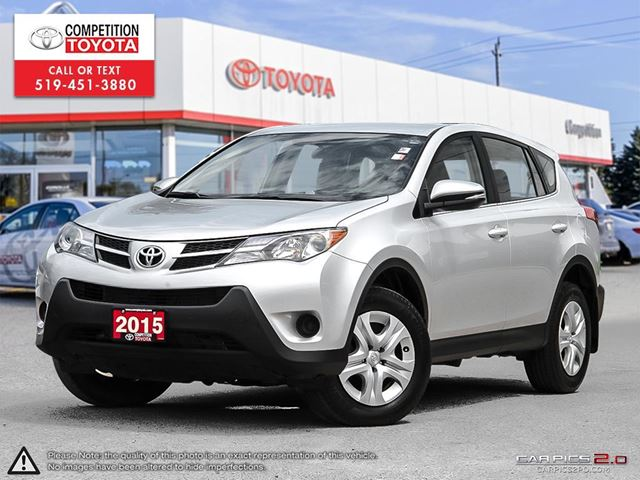 2015 TOYOTA RAV4 LE One Owner, No Accidents, Toyota Serviced in London, Ontario