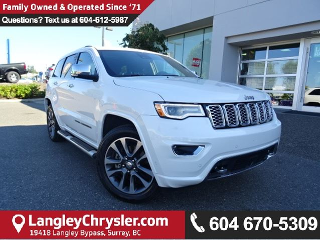 2017 JEEP GRAND CHEROKEE Overland W/AIR RIDE SUSPENSION & NAVIGATION in Surrey, British Columbia