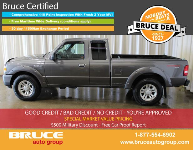 2011 FORD RANGER SPORT 4.0L 6 CYL 5 SPD MANUAL 4X4 SUPERCAB in Middleton, Nova Scotia