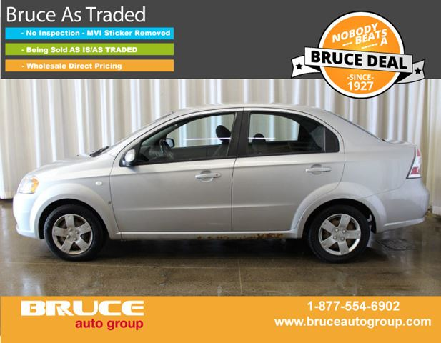 2008 Chevrolet Aveo LS 1.6L 4 CYL AUTOMATIC FWD 4D SEDAN in Middleton, Nova Scotia
