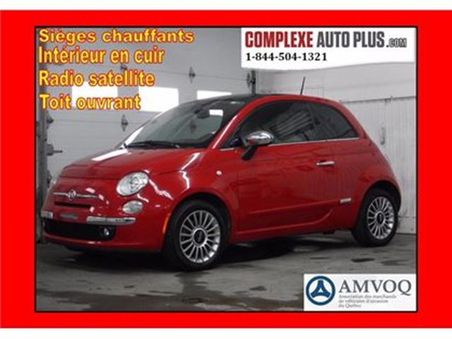2012 Fiat 500 Lounge *Toit ouvrant, Cuir rouge in Saint-Jerome, Quebec