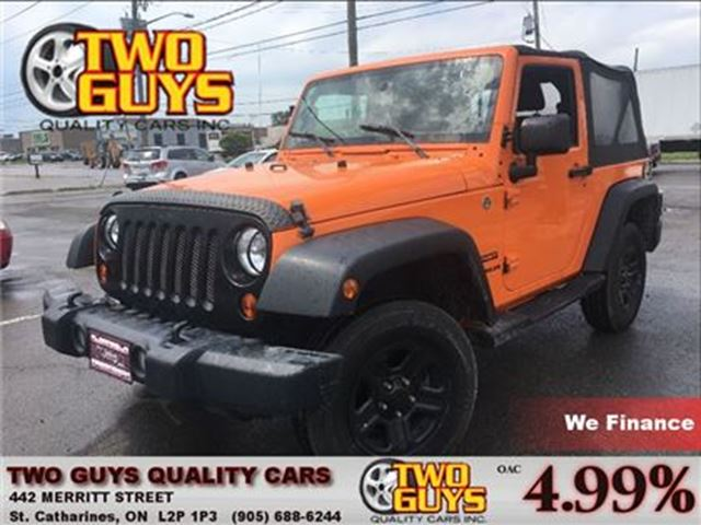 2012 JEEP WRANGLER Sport 4WD CONVERTIBLE W/REMOVABLE HARDTOP in St Catharines, Ontario