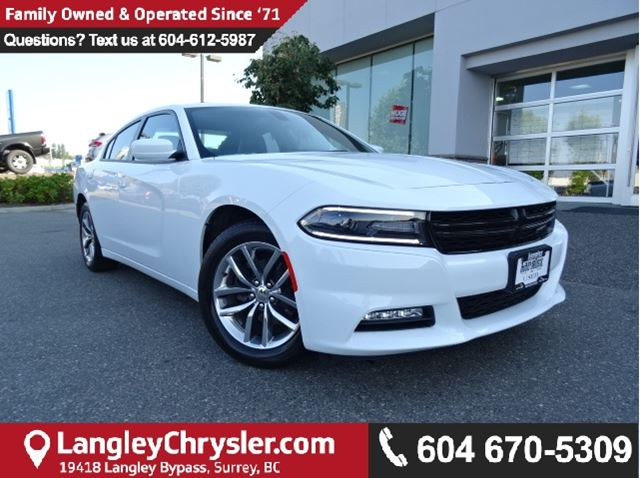2016 DODGE CHARGER SXT W/ LEATHER INTERIOR & BACKUP CAMERA in Surrey, British Columbia