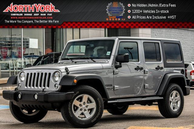2016 Jeep Wrangler Unlimited Sport 4x4 Connect.Pwr Convi.Pkgs AC Keyless_Entry 17Alloys in Thornhill, Ontario