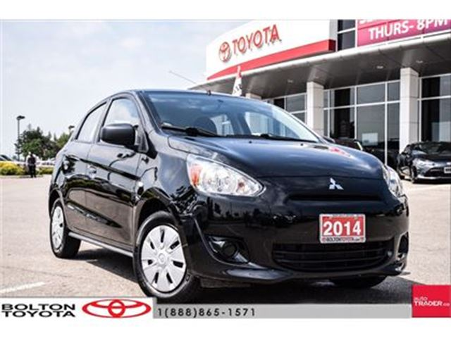 2014 MITSUBISHI MIRAGE ES - 5MT One Owner, Low Kms! On Sale! in Bolton, Ontario
