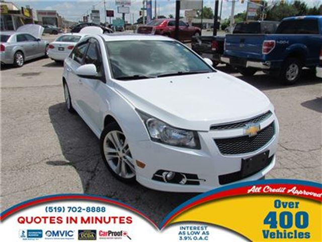 2012 Chevrolet Cruze LTZ   TURBO   RS PACKAGE   LEATHER   ROOF in London, Ontario