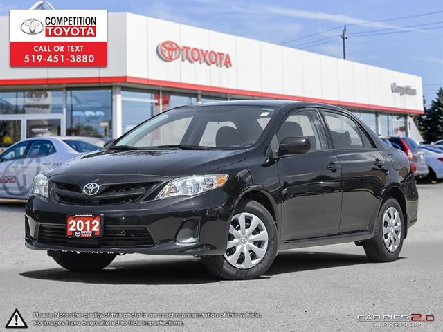 2012 Toyota Corolla CE One Owner, No Accidents, Toyota Serviced in London, Ontario