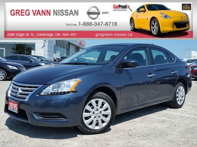 2015 Nissan Sentra w/keyless,cruise,bluetooth in Cambridge, Ontario