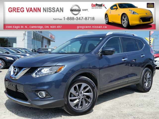 2016 Nissan Rogue SL AWD w/all leather,NAV,panoramic roof,climate control,heated seats,rear cam in Cambridge, Ontario