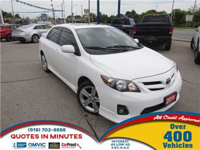 2011 Toyota Corolla XRS   SUNROOF   BLUETOOTH   ALLOYS in London, Ontario