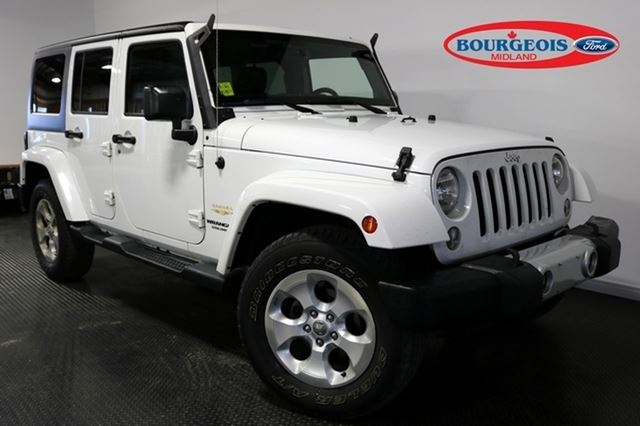 2014 Jeep Wrangler Unlimited SAHARA 3.6L 6CYL in Midland, Ontario