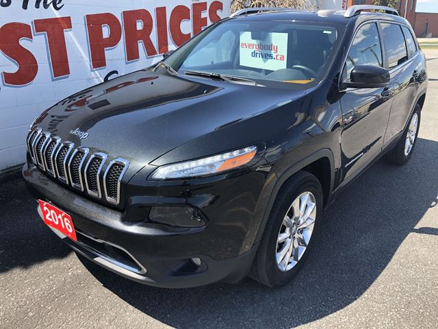 2016 JEEP CHEROKEE Limited 4X4, LEATHER HEATED SEATS, NAVIGATION, SUNROOF in Oshawa, Ontario