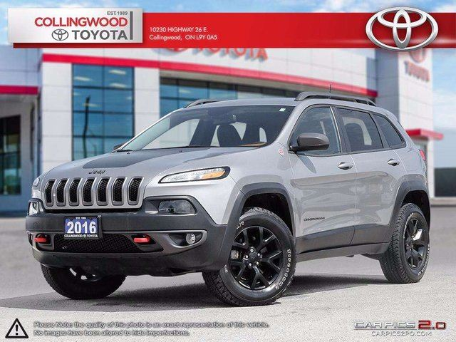 2016 Jeep Cherokee TRAILHAWK 4X4 LEATHER AND ALLOYS in Collingwood, Ontario