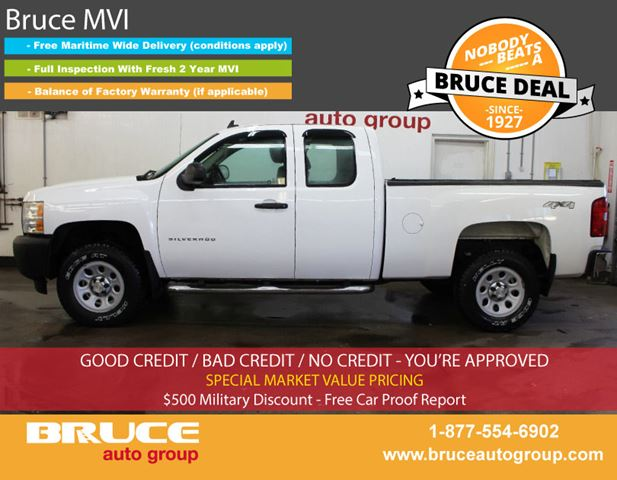 2013 Chevrolet Silverado 1500 WT 4.8L 8 CYL AUTOMATIC 4X4 EXTENDED CAB in Middleton, Nova Scotia
