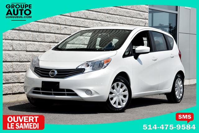 2015 Nissan Versa *SV*AUTOM*A/C*BLANC*CAMERA* in Longueuil, Quebec