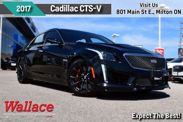 2017 CADILLAC CTS V MINT!/640HP V8/SUNROOF/BREMBOS/PDR/htd seats in Milton, Ontario