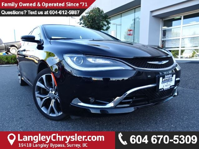 2016 CHRYSLER 200 C in Surrey, British Columbia