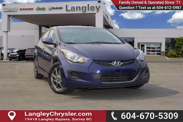2013 HYUNDAI ELANTRA GLS in Surrey, British Columbia