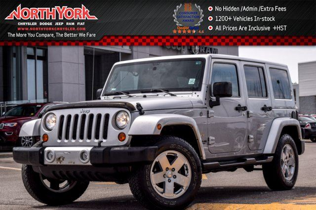 2012 Jeep Wrangler Unlimited Sahara 4X4 Nav. LthrSeats HtdFrntSeats R-Start 18Alloys in Thornhill, Ontario