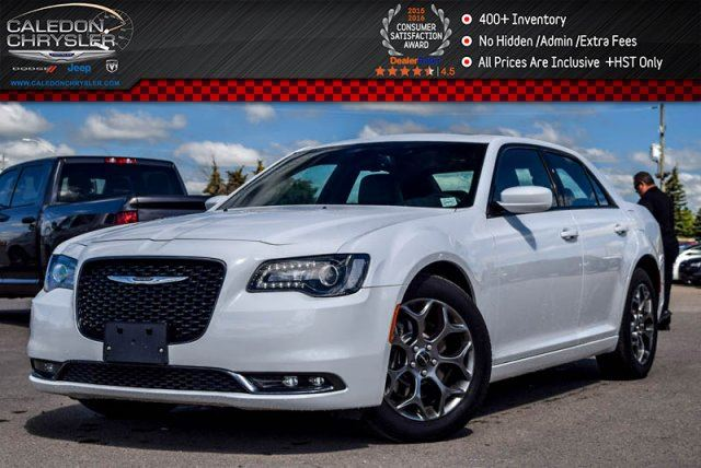 2016 Chrysler 300 S AWD Navi Pano Sunroof Backup Cam Bluetooth Leather R-Start 19Alloy Rims in Bolton, Ontario