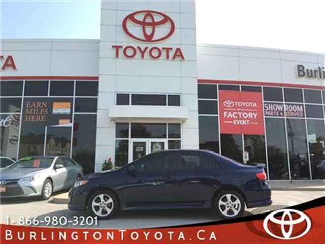 2011 Toyota Corolla LOW KM SPORT in Burlington, Ontario
