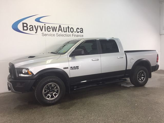 2017 Dodge RAM 1500 REBEL - HEMI! CREW! 4X4! REM START! REV CAM! in Belleville, Ontario